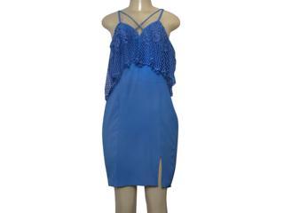 Vestido Feminino Lado Avesso 103551 Azul - Tamanho Médio