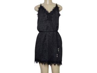 Vestido Feminino Lado Avesso 105637 Preto/cinza - Tamanho Médio