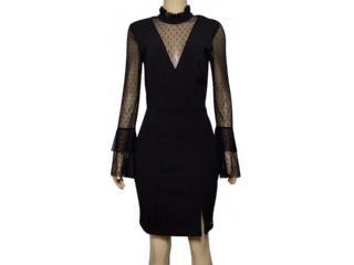 Vestido Feminino Lado Avesso 105631 Preto - Tamanho Médio