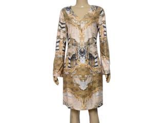 Vestido Feminino Lado Avesso 101649 Dourado - Tamanho Médio