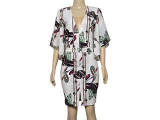 Vestido Feminino Lado Avesso 105651 Off White Estampado - Tamanho Médio