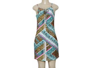 Vestido Feminino Lado Avesso 98513 Verde/ocre Estampado - Tamanho Médio