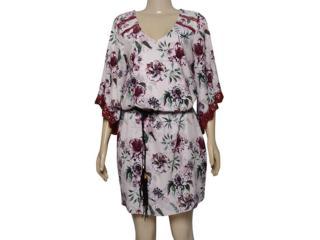 Vestido Feminino Lado Avesso 101643 Rosa Estampado - Tamanho Médio