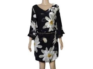 Vestido Feminino Lado Avesso 101653 Floral - Tamanho Médio