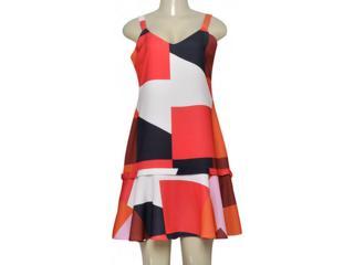 Vestido Feminino Lafort E17v147 Off White/preto Estampado - Tamanho Médio
