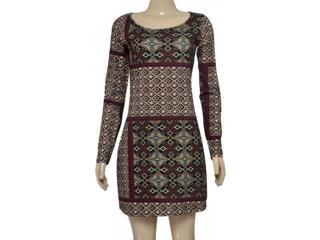Vestido Feminino Lez a Lez Lp600 Preto Estampado - Tamanho Médio