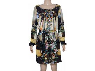 Vestido Feminino Lix Vem151 Estampada - Tamanho Médio