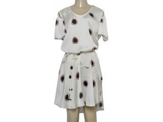 Vestido Feminino Maria Valentina 104754 Off White Estampado - Tamanho Médio