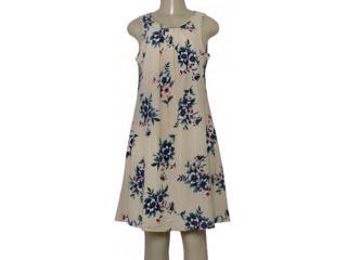 Vestido Feminino Miose 12734 Bege Floral - Tamanho Médio