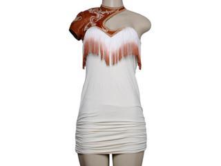 Vestido Feminino Moikana 7013 Off White - Tamanho Médio