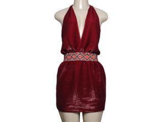 Vestido Feminino Moikana 6052 Vermelho - Tamanho Médio