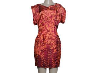 Vestido Feminino Moikana 9039 Laranja - Tamanho Médio