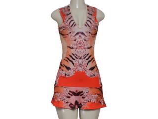 Vestido Feminino Moikana 8015 Areia/laranja - Tamanho Médio
