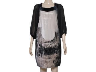 Vestido Feminino Moikana 12021 Preto - Tamanho Médio