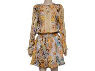 Vestido Feminino Moikana 13029 Amarelo - Tamanho Médio