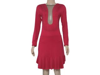 Vestido Feminino Moikana 150163 Vermelho - Tamanho Médio