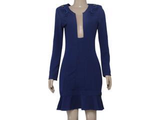 Vestido Feminino Moikana 15072 Azul - Tamanho Médio