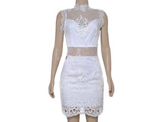 Vestido Feminino Moikana 16010 Off White - Tamanho Médio