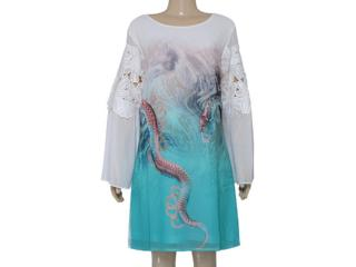 Vestido Feminino Moikana 16060 Turquesa - Tamanho Médio