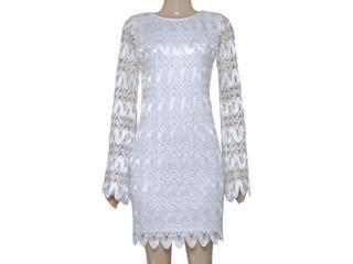 Vestido Feminino Moikana 160128 Off White - Tamanho Médio