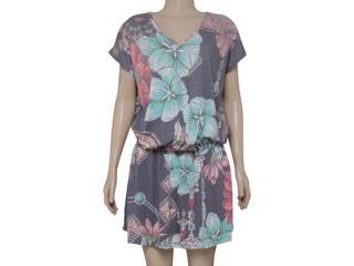 Vestido Feminino Moikana 160138 Preto Floral - Tamanho Médio