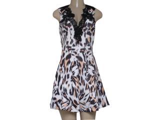 Vestido Feminino Moikana 160122 Onça - Tamanho Médio
