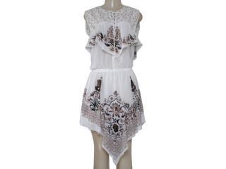 Vestido Feminino Moikana 16093 Off White - Tamanho Médio