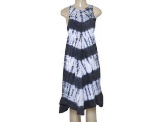 Vestido Feminino Moikana 160135 Branco/preto - Tamanho Médio