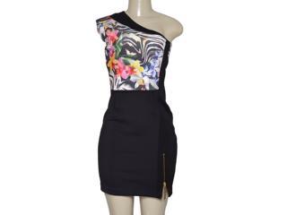 Vestido Feminino Moikana 11035 Zebra/floral - Tamanho Médio