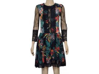 Vestido Feminino Moikana 180008 Preto Floral - Tamanho Médio