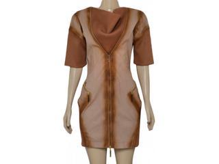 Vestido Feminino Moikana 6008 Ocre - Tamanho Médio