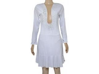 Vestido Feminino Moikana 150163 Branco - Tamanho Médio