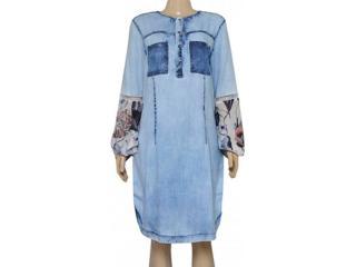 Vestido Feminino Moikana 180174 Jeans Claro - Tamanho Médio