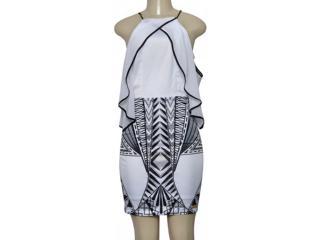 Vestido Feminino Moikana 230100 Branco/preto - Tamanho Médio