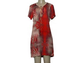 Vestido Feminino Moikana 230091 Vermelho/bege - Tamanho Médio
