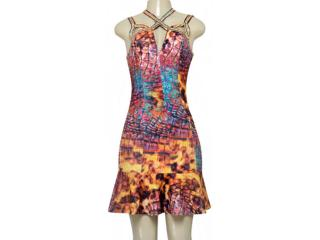 Vestido Feminino Moikana 190044 Estampado - Tamanho Médio