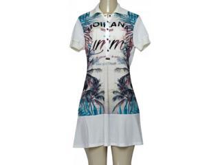 Vestido Feminino Moikana 190001 Off White Estampado - Tamanho Médio