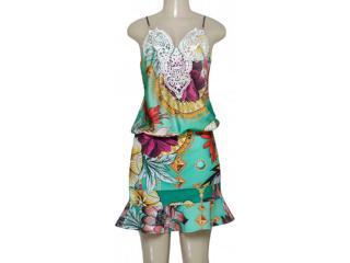 Vestido Feminino Moikana 160132 Verde Floral - Tamanho Médio