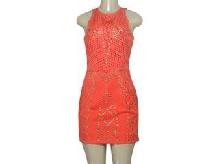 Vestido Feminino Moikana 8056 Coral - Tamanho Médio