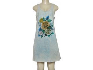 Vestido Feminino Moikana 190051 Azul Floral - Tamanho Médio