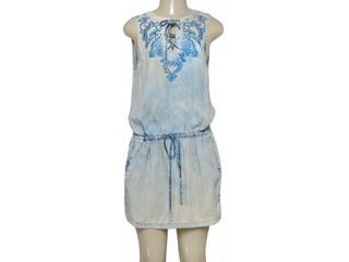 Vestido Feminino Moikana 198082 Jeans - Tamanho Médio