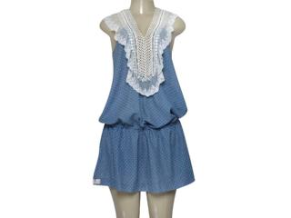 Vestido Feminino Moikana 4069 Azul - Tamanho Médio