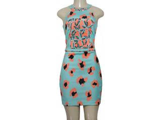 Vestido Feminino Moikana 190100 Acqua Estampado - Tamanho Médio