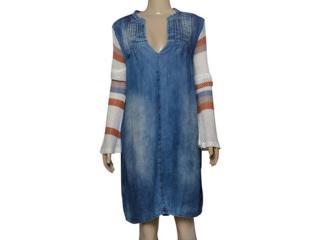 Vestido Feminino Moikana 210064 Azul/nude - Tamanho Médio