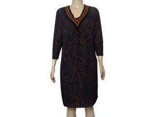Vestido Feminino Moikana 210028 Preto Floral - Tamanho Médio