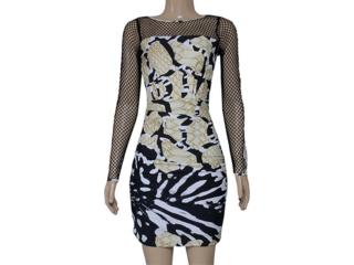 Vestido Feminino Morena Rosa 103744 Estampado Verde/preto - Tamanho Médio
