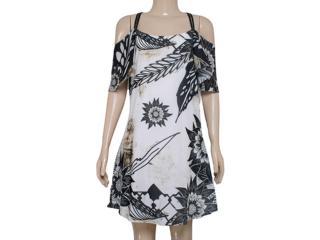 Vestido Feminino Morena Rosa 104068 Off White/estampado Preto - Tamanho Médio