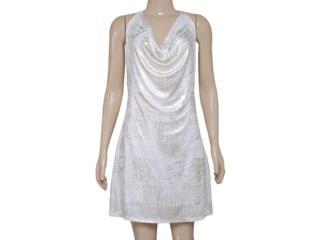 Vestido Feminino Morena Rosa 104159 Off White/dourado - Tamanho Médio