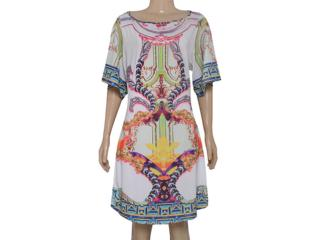 Vestido Feminino Morena Rosa 104074 Estampado Acqua - Tamanho Médio