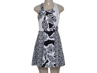 Vestido Feminino Morena Rosa 104210 Estampado Preto/off White - Tamanho Médio